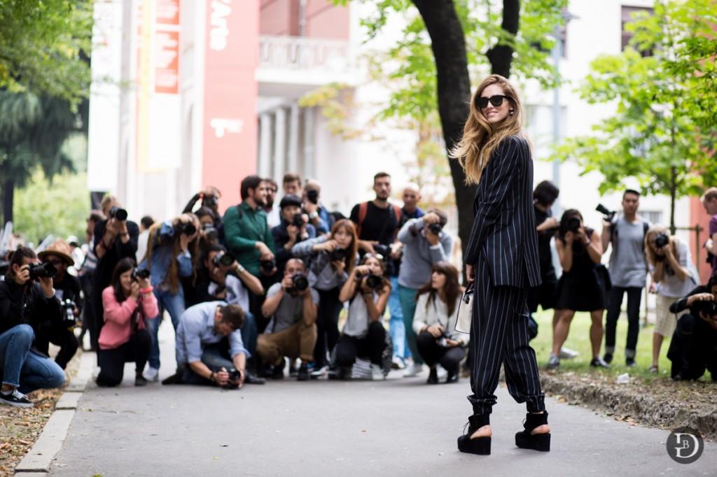 Chiara Ferragni MFW Streetstyle Costume National
