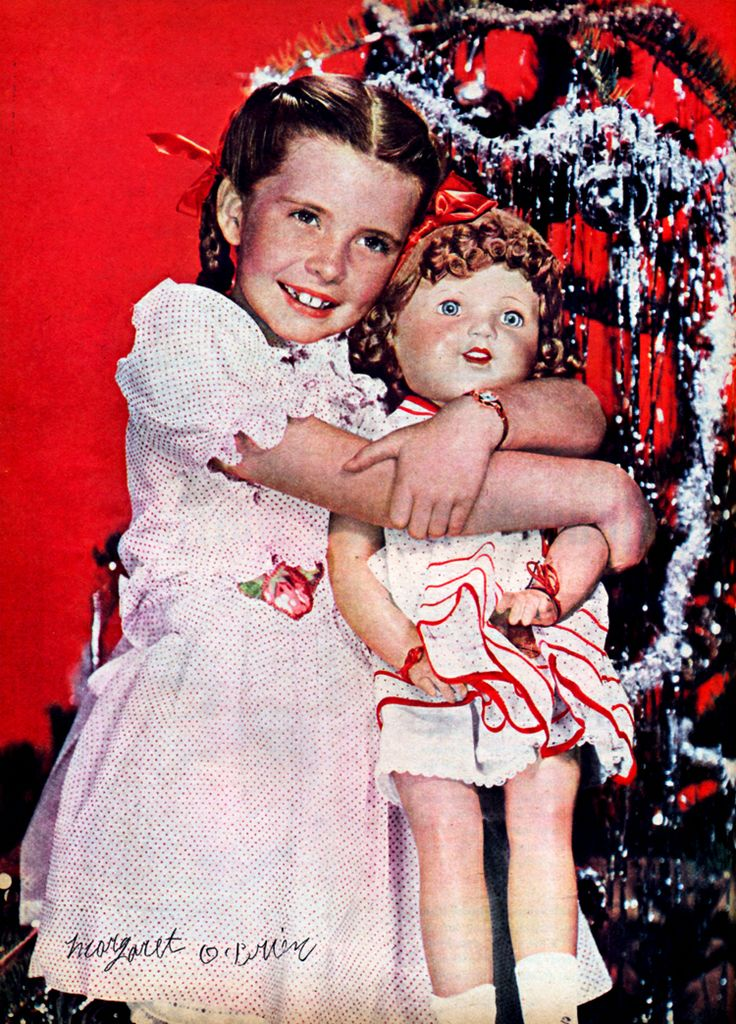 color page on Margaret O'Brien from the January 1945 Modern Screen magazine
