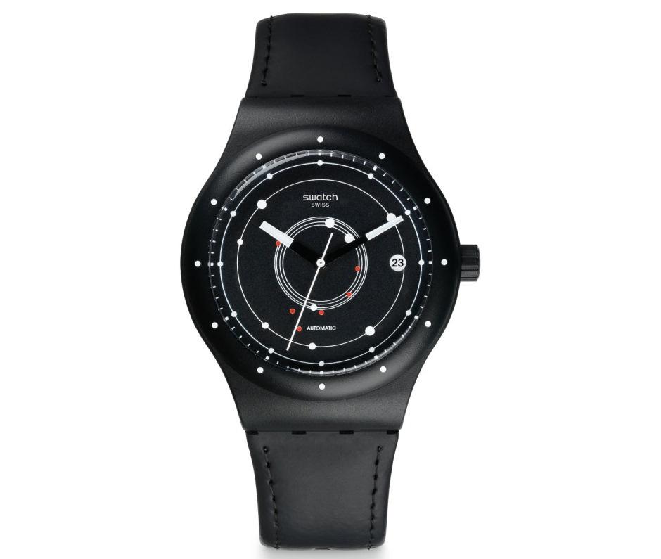 Black brake watch, Swatch
