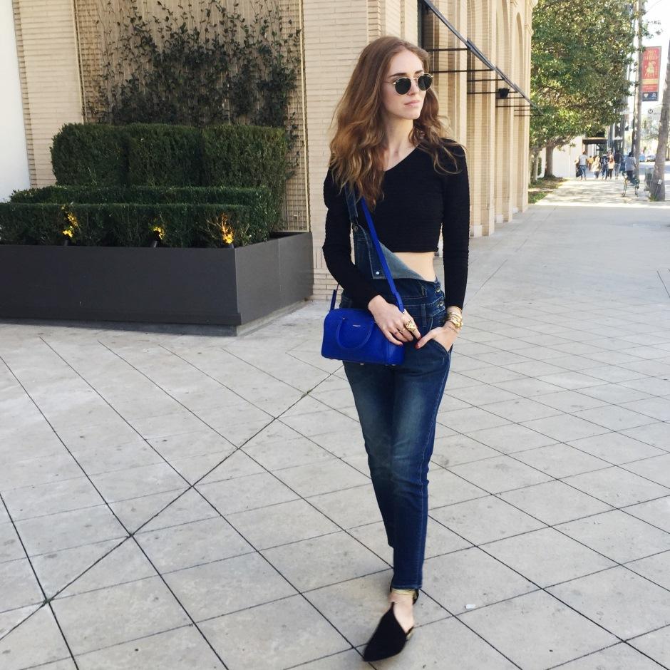 How to style a denim overall like Chiara Ferragni