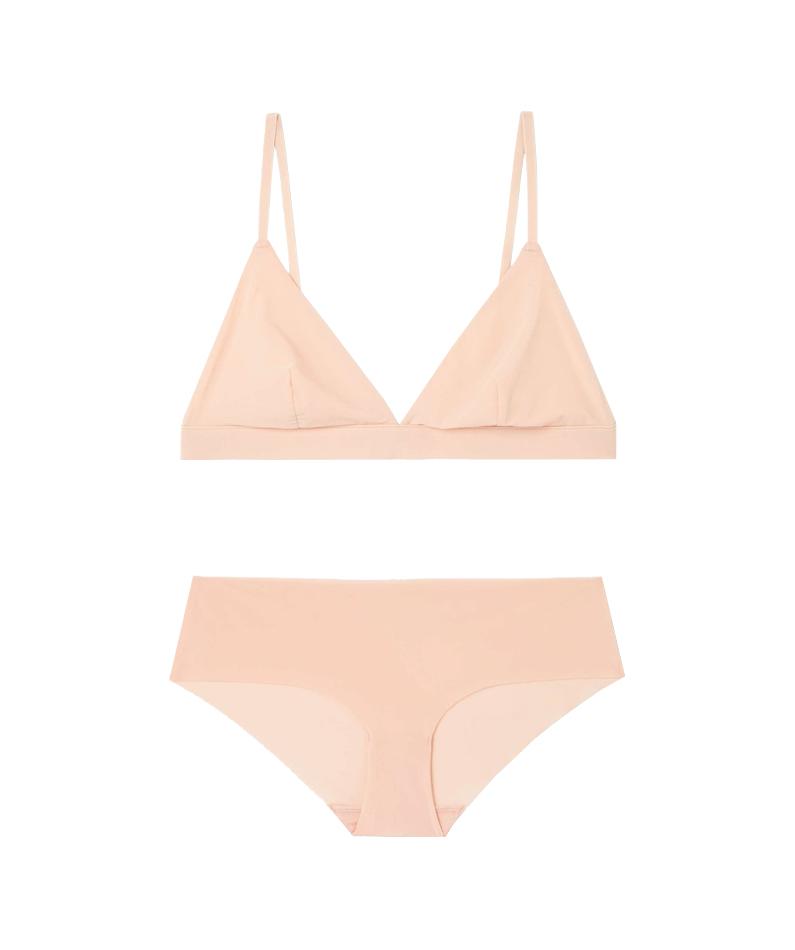 Soft nude triangle bra, Cos +  Smooth nude panty, Cos