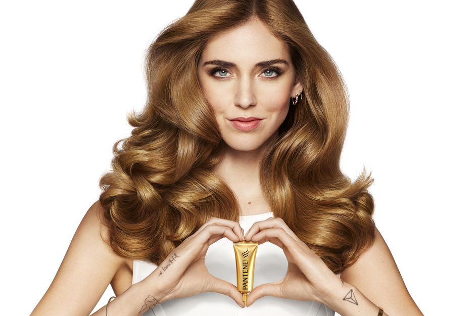 Chiara Ferragni on the ad for Pantene