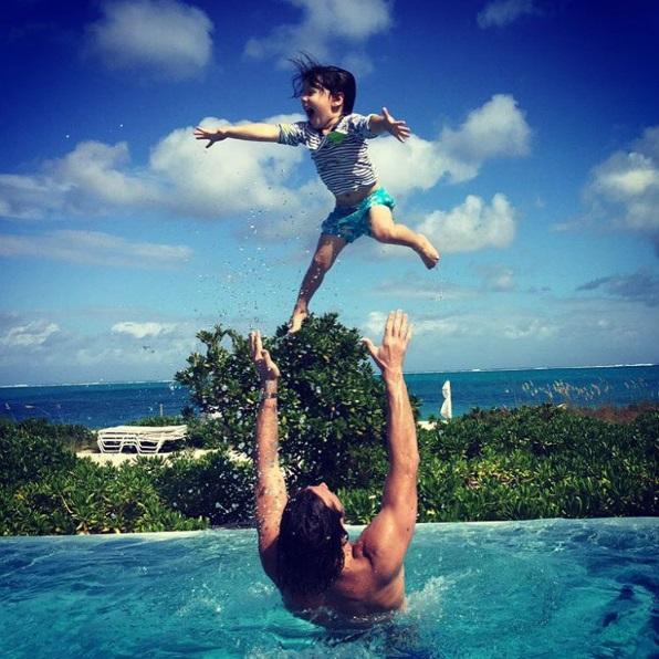 Jared Padalecki and his son (Instagram)