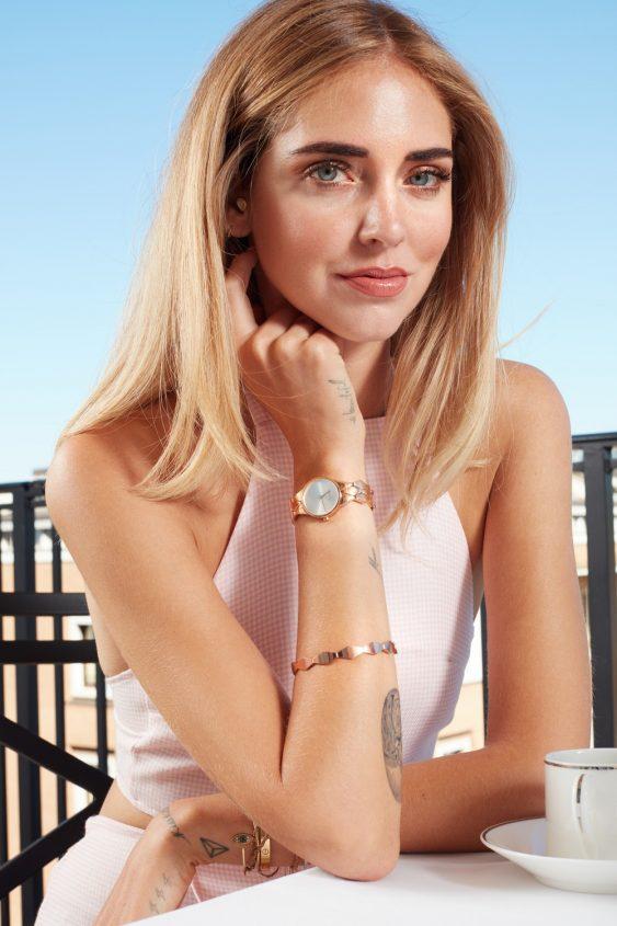 Chiara is wearingCalvin Klein Snake WatchandCalvin Klein Snake Bracelet